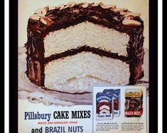 1951 Betty Crocker Christmas Fruit Cake Ad with Recipe Gift | Etsy