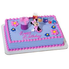 Minnie Mouse Hat Box DecoSet Cupcake Cake Decorating Card Disney