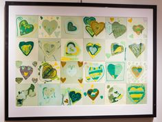 G1 collaborative art for auction - hearts