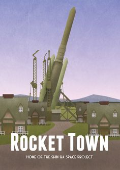 Rocket Town - travel poster inspired by Final Fantasy VII: http://www.gamerprint.co.uk/products/rocket-town