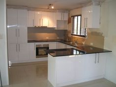 Image result for U shape kitchen with small breakfast bar