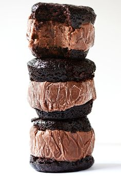 Brownie Ice Cream Sandwich Stack | 27 Most Epic Food Stacks Of 2013