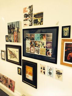 Graphic artwork wall in the creative studio