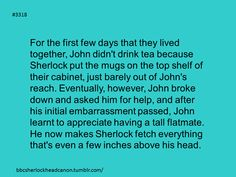 Headcanon accepted. :) JohnLock its a thing!