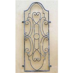 Wrought Iron Gate Wall Grill - By Griffin Creek Metal Gates, Wrought Iron Gates, Wrought Iron Wall Decor, Metal Grill, Wall Decor Online, Garden Doors, Decorative Accessories, Decorative Accents, Home Accents