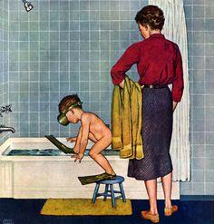 Scuba In The Tub Auf americangallery.wordpress.com http://www.pinterest.com/ikatawa/mujeres-de-su-casa-perfect-housewifes/