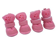 niceeshop(TM) 4 Pcs Lovely Pet Dog Puppy Cotton Blend Shoes Winter Snow Warm Walking Boots -- Learn more by visiting the image link. (This is an affiliate link and I receive a commission for the sales)