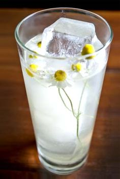 Chamomile syrup and aquavit make up the Water of Life at 1886.