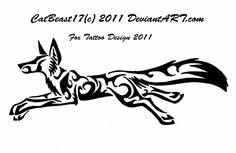 Running Fox Tattoo Design by ~CatBeast17 on deviantART
