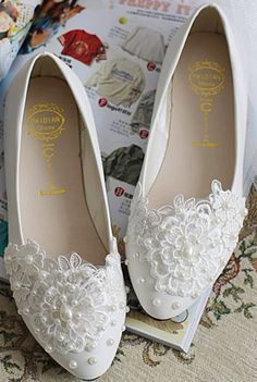 Pearl Wedding Shoes Pearl Bridal ShoesCrystal by Cocoangelly
