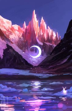 51 Enigmatic Forest Concept Art That Will Amaze You Fantasy Art Landscapes, Fantasy Landscape, Fantasy Artwork, Landscape Art, Cute Wallpapers, Wallpaper Backgrounds, Iphone Wallpaper, Arte 8 Bits, Wallpaper Fofos