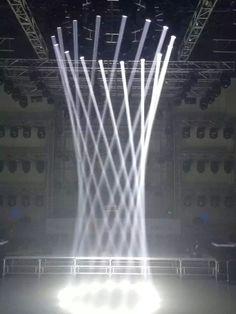 Billedresultat for moving head interactive installation Stage Lighting Design, Dmx Lighting, Stage Set Design, Church Stage Design, Event Lighting, Cool Lighting, Lighting Ideas, Event Design, Installation Architecture