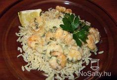 Tejszínes garnélarák Love Food, Potato Salad, Grains, Food And Drink, Potatoes, Ethnic Recipes, Potato, Seeds, Korn