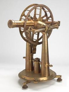 Altitude & Azimuth Instrument - Troughton & Simms, London, 18 Inch, circa 1836. Used for the geodetic survey of Victoria [1858-71] and during observation of the transit of Venus by EJ White in 1874.