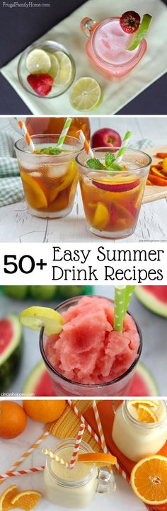 Easy Summer Drinks to Keep You Cool - Frugal Family Home Keep hydrated this summer with one of these summer drinks. They are all easy recipes for almost every taste and occasion. Drink Recipes Nonalcoholic, Summer Drink Recipes, Easy Drink Recipes, Drinks Alcohol Recipes, Yummy Drinks, Frugal Recipes, Water Recipes, Alcoholic Beverages, Coffee Recipes