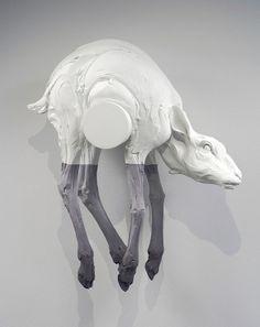 Beth Cavener Stichter ceramic sculpture via http://evafunderburgh.com/