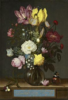 "28 апреля. ""Bouquet of Flowers in a Glass Vase"" (National Gallery of Art (Washington))Ambrosius Bosschaert the Elder"