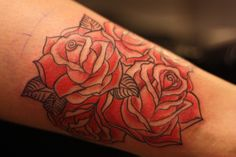 Old School Rose Tattoo Flash | Little Bird Tattoo!: Old school roses / rose tattoo
