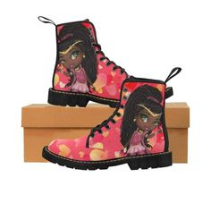 Cute Black Princesses Martin Boots for Kids (Black) 4b574d9ed839f
