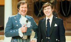 Kenneth McKellar (left), classical tenor and skilful interpreter of Scottish popular song, especially Burns.  Fellow Scot Andy Stewart is on the right.