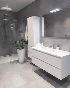Grey bathrooms designs - 32 best bathroom designs images of beautiful bathroom remodel ideas to try 20 Grey Bathrooms Designs, Bathroom Designs Images, Modern Bathroom Design, Bathroom Interior Design, Bath Design, Ikea Interior, Bathroom Design 2017, Minimalist Bathroom Design, Minimal Bathroom