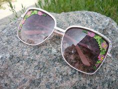 Embroidered Sunglasses DIY cross stitch sunglasses #crossstitch #tutorial #embroidery