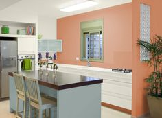 Attrayant Apricot Paint Color For Kitchen Design Ideas