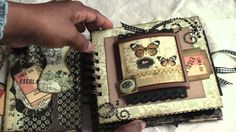 Scrapbooking:Vintage Paperbag mini album