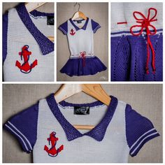 Baby Sailor Dress Size 9 - 12 Months