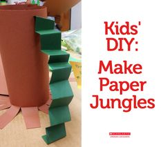 Encourage your kid to go wild while making a paper jungle: