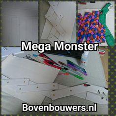 Mega Monster maken - Thema 'Raar maar Waar' Kinderboekenweek 2015 - Bovenbouwers.nl