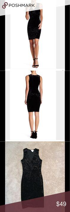 NWOT Love...Ady Black Velvet Dress V-neck, sleeveless, allover velvet construction, bodycon. Made in USA. 90% polyester, 10% spandex. Dry clean. love...ady Dresses