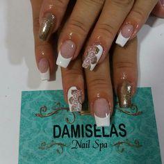 Cute Nails, Pretty Nails, My Nails, Feather Nails, Marble Nail Art, French Nail Designs, Easy Nail Art, Beautiful Nail Art, Black Nails