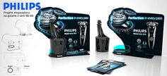 Philips shaver display on Behance