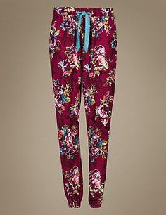 Floral Woven Straight Leg Long Pants   M&S £16