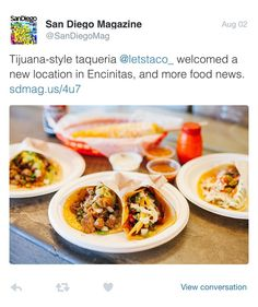 Encinitas on the radar  Gracias @sandiegomag   Who's visiting us for #TacoTuesday Today at #TheTacoStand:  $2.50 Grilled Chicken Tacos  $2.50 Pastor Tacos  $2.50 Veggie Nopal Tacos  $3.00 Cerveza  #LetsTaco #HechoaMano #SanDiego #tacos