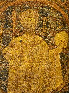 Portrayal of Stephen I, King of Hungary on the coronation pall - Koronázási palást – Wikipédia