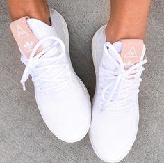 pretty nice f4b97 c4d77 Clothing adidas Originals Pharrell Williams Tennis Hu in raw pink and  white. ClothingSource  adidas Originals Pharrell Williams Tennis Hu in raw  pink and ...