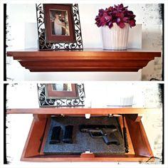 Covert Cabinets LG-36 Gun Cabinet Wall Shelf with Hidden Storage ...