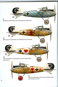 Albatros D Va ,variants Luftwaffe, Paint Schemes, Colour Schemes, Airplane Painting, Airplane Art, Dibujos Pin Up, Focke Wulf, Aircraft Painting, Air Festival