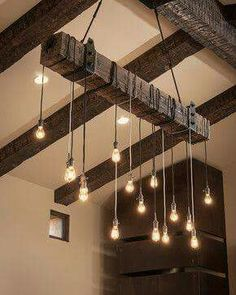 Edison lights from beams
