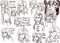 A doodle dump of angry Annabeth and all the crap she puts up with.