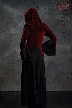 Deirdre Hooded Dress Cloak in Velvet and Lace  by rosemortem, $249.00