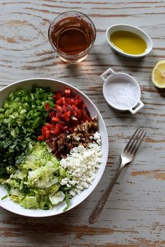 Spinach and Strawberry Chopped Salad - Joy the Baker