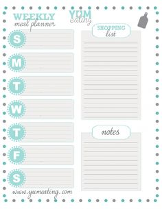 Soft colored meal planner perfect for your planner or binder. Meal Planner Printable, Weekly Meal Planner, Planner Template, Planner Inserts, Weekly Menu, Weekly Meal Plan Template, Free Meal Plans, Planning Budget, Menu Planning