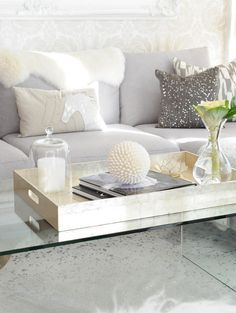 how to style coffee table trays: ideas & inspiration | coffee