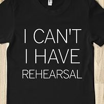 Yeppers! :) Whether it be ballet, musical theater, or band, I almost always have one or two rehearsals a day. But it's what I love!