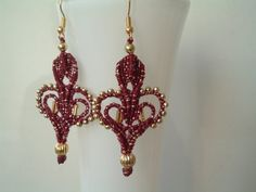Hey, I found this really awesome Etsy listing at https://www.etsy.com/listing/217138527/giglio-earrings-in-macrame-lace