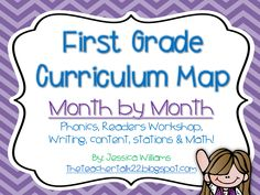 First Grade Curriculum Map Updated Monthly!