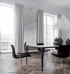 Beautyful flooring & Poul Kjærholm chairs